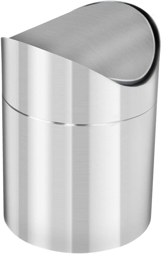 1.5L acero inoxidable mesa papelera de reciclaje de residuos cubo ...