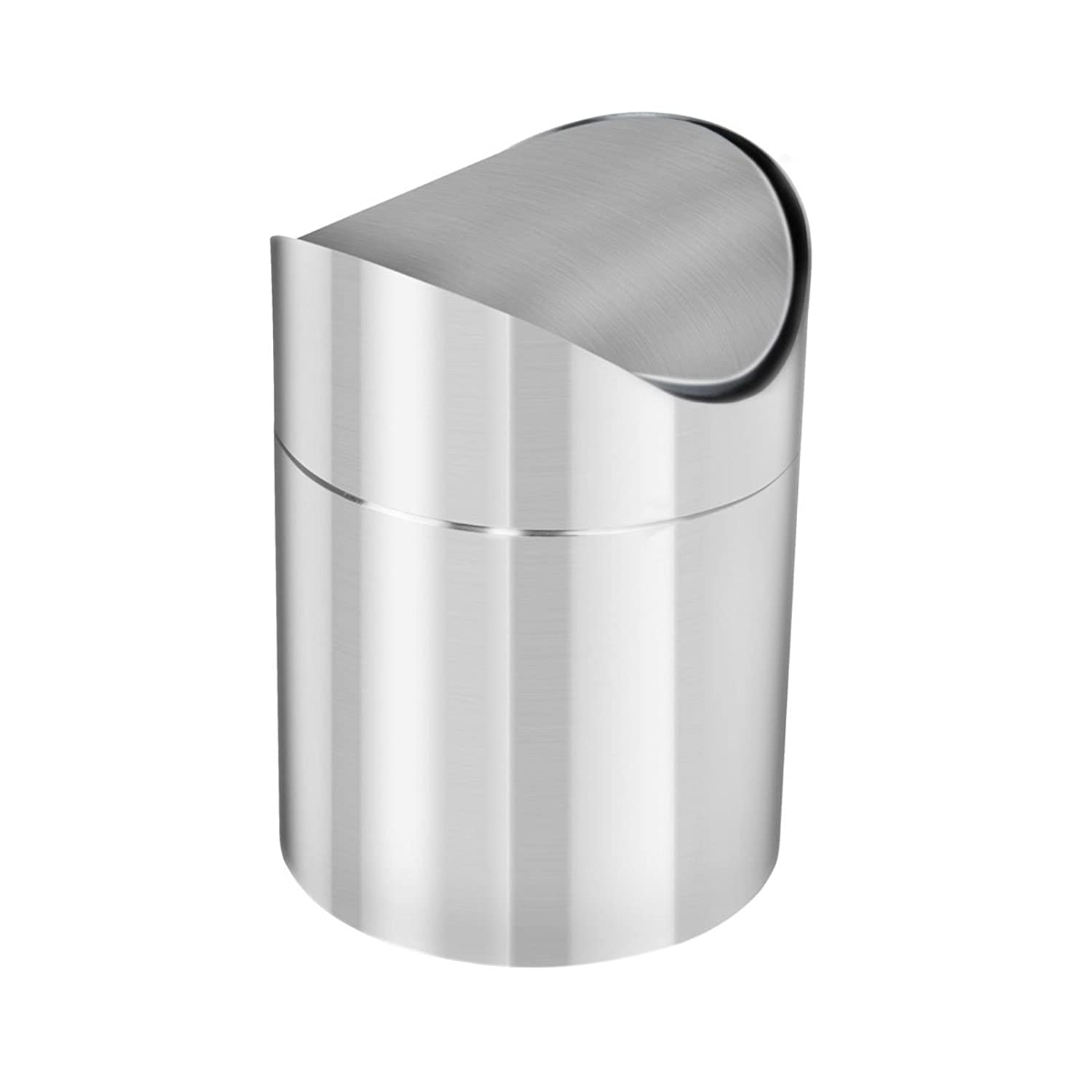 GEEZY 1.5L Stainless Steel Table Top Waste Recycling Rubbish Bin Swing Lid Kitchen Bin The Magic Toy Shop