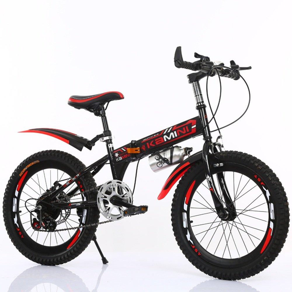 美しい 家20/22インチ6-8-10-12歳の子供用自転車、男の子および女の子は折り畳まれた生徒用自転車(多色オプション) (色 : 赤, サイズ さいず : 22 inches) B07D1PPS9S赤 22 inches