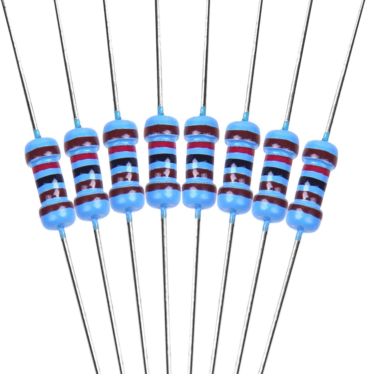 0.25 Watt /±1/% Tolerance Metal Film Fixed Resistor Assortment for DIY and Experiments DEDC 1000 Pieces 1K ohm Resistor 1//4w