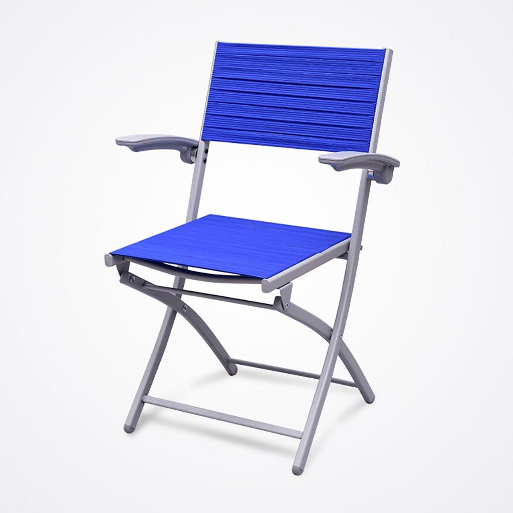 QRFDIAN Freizeit klappstuhl Gesundheit Stuhl bürostuhl atmungsaktive Gummiband Verband Stuhl Computer Stuhl Schach Mahjong Stuhl (Farbe : Blau)