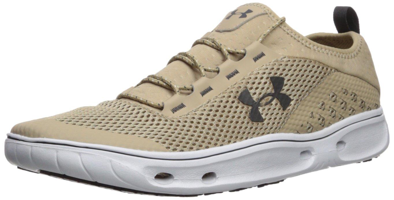 Under Armour Men's Kilchis Fishing Sneaker, Desert Sand (290)/White, 12.5