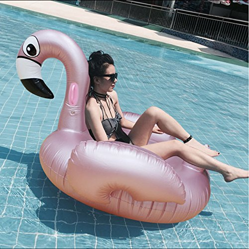 Labu Store Inflatable Flamingo Swimming float Pool Float Pink Ride-On Swimming Ring Adults Children Water Holiday Party Toys Piscina 150CM
