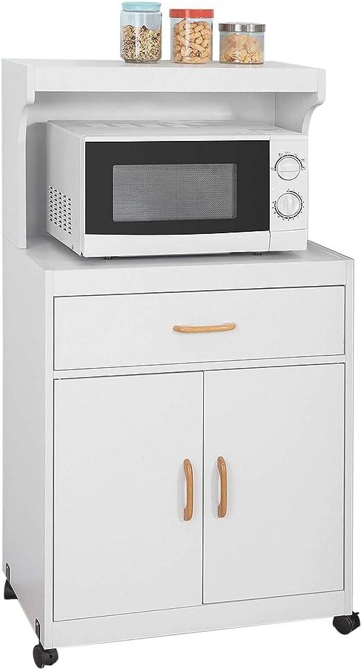 SoBuy FSB12-W,Aparador Auxiliar bajo de Cocina con 2 Puertas y 1 ...