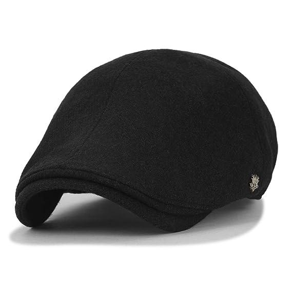 77eb14ac9a73f ililily Solid Color Wool Blend Gatsby Newsboy Hat Cabbie XL Hunting Flat Cap