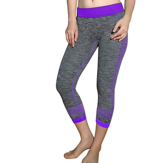 Pantalón de Yoga para Mujer Pantalón Deportivo para Mujer Pantalón de Seven Points con Fuerza para