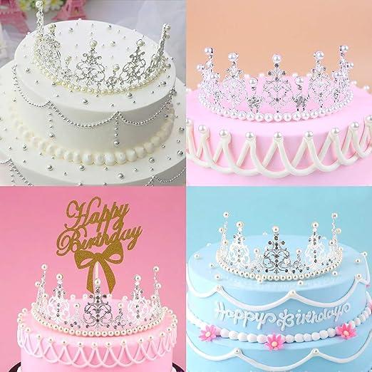 Tiara de plata con forma de corona para decoración de tartas ...