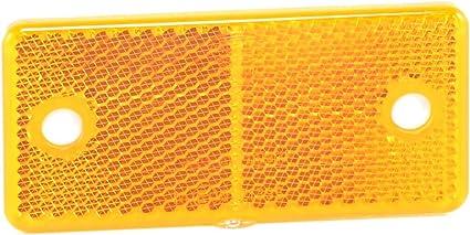 Hella 8ra 003 326 011 Rückstrahler Lichtscheibenfarbe Gelb Geschraubt Auto