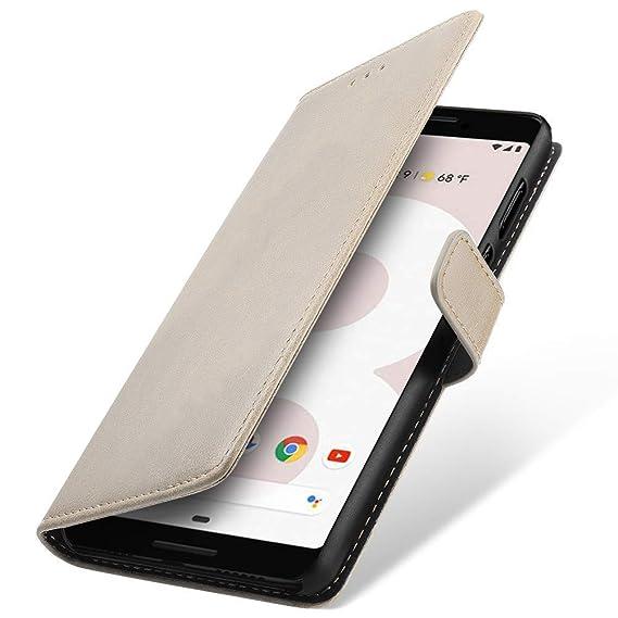 Amazon com: Google Pixel 3 Case, SLEO Retro Vintage PU Leather