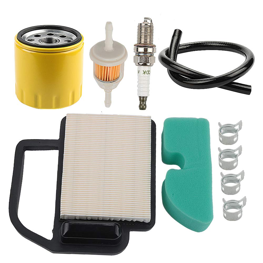 Powtol Mckin 20 083 02-S Air Filter+52 050 02-S Oil Filter fits Kohler Courage 15 16 17 18 19 20 21 22 HP YTH21K46 YTH20K46 Engines Cub Cadet KH-20-083-02-S KH-20-883-02-S1