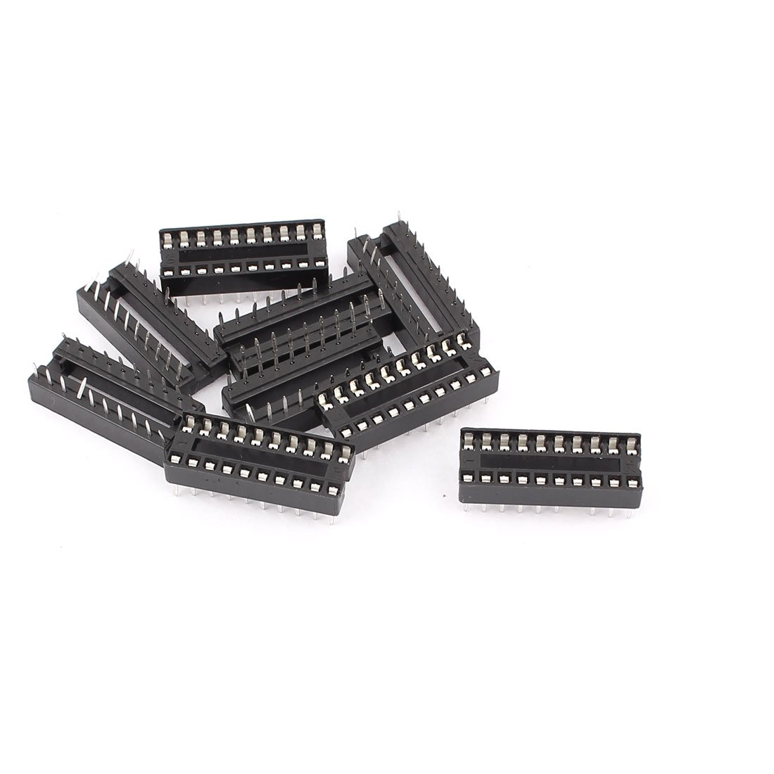 Uxcell 2.54 mm Pitch PCB Solder Type 20 Pins DIP IC Chip Sockets Adapter, 8 Pieces a15092300ux0125