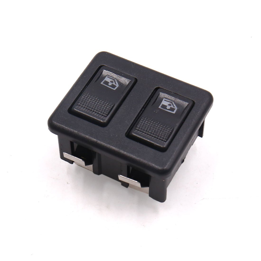 uxcell Black Plastic Shell Universal Automobile Car Double Row Power Window Switch a17061300ux0568