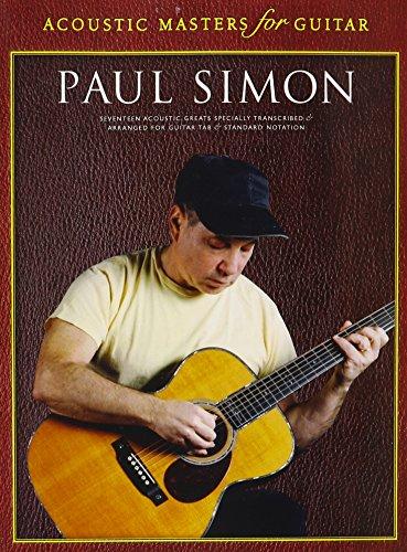 Hal Leonard Paul Simon Acoustic Masters for Guitar - Tabs Guitar Simon Paul