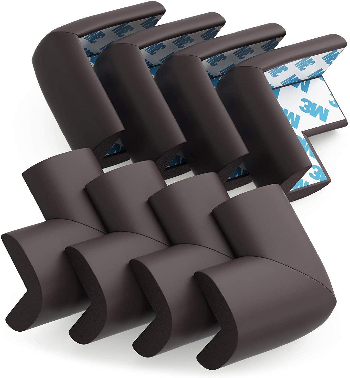 Baby Proofing Corner Guards Child Proof Sharp Table Corner Protectors 8 Pack Brown Amazon Ca Baby