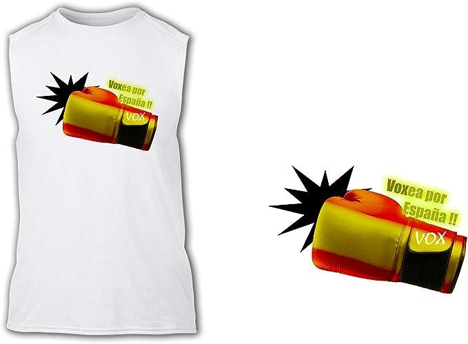 Camiseta SIN Mangas VOXEA por ESPAÑA Tshirt: Amazon.es: Ropa y ...
