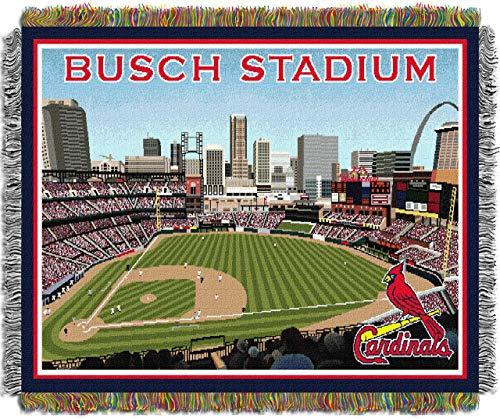 Northwest Acrylic Throw - The Northwest Co MLB Stadium Woven Tapestry Throw St. Louis Cardinals