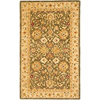 Safavieh Anatolia Collection AN553A Handmade Traditional Oriental Olive Grey and Beige Wool Area Rug (5 x 8)