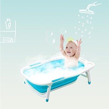 Amazon.com : Costzon Baby Folding Bathtub, Infant Collapsible ...