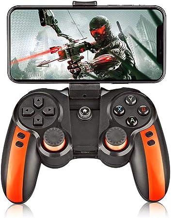 Mando Bluetooth Inalámbrico de Juegos, para Android/Windows/VR/TV Box/PS3,Naranja,2019,Orange: Amazon.es: Hogar