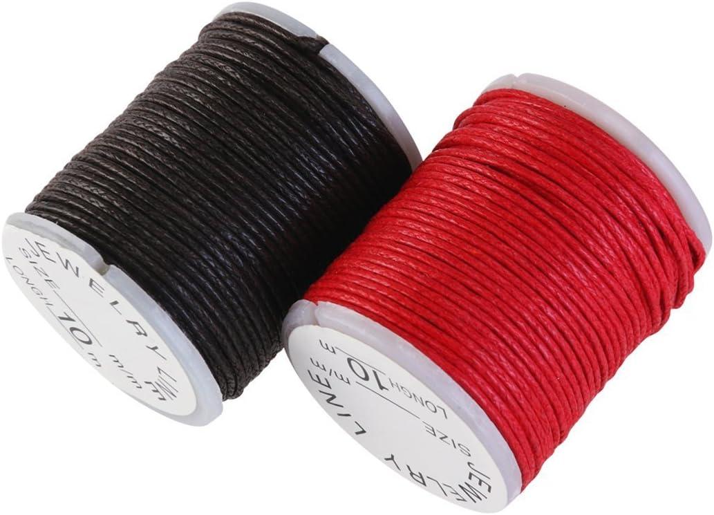 Winomo - 10 rollos de hilo de algodón encerado, 10 m, 1 mm, para ...