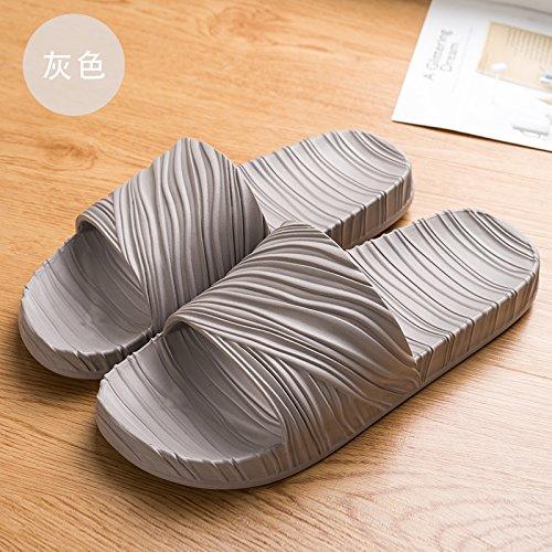 femmina di piede schiuma grigio è spessore 40 fondo e coperta estiva Home 39 turistica strisce bagno morbido doccia personalizzata pantofole fankou antiscivolo semplice wqIg4p0
