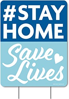 product image for Big Dot of Happiness Stay Home Save Lives - Outdoor Lawn Sign - Yard Sign - 1 Piece