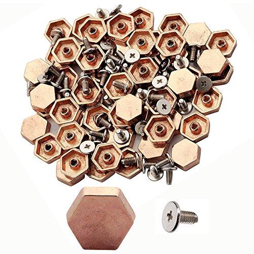 100pcs Cone Spikes Screwback Studs DIY Craft Cool Rivets Punk Stud (Rose Gold)