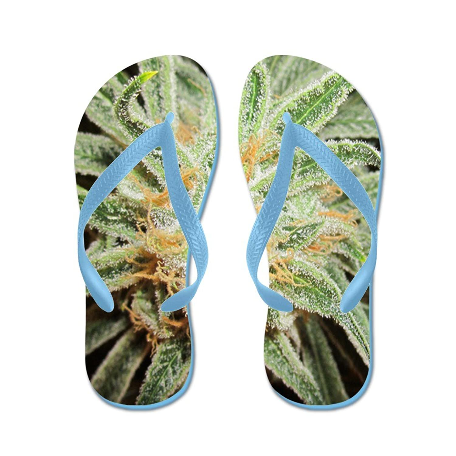 627085a04 CafePress Cannabis Sativa Flower - Flip Flops