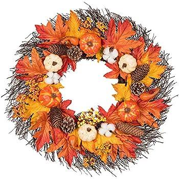 Lvydec Maple Leaves Fall Wreath - 20