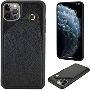 ZVE Wallet Case Compatible for iPhone 12/iPhone 12 Pro Case with Credit Card Holder Slot Handbag Purse Protective Leather Cover for iPhone 12 Pro/iPhone 12,6.1 inch -Black