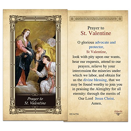Prayer Laminated Holy Card (Prayer St. Valentine Laminated Holy Card - Pack of 10)
