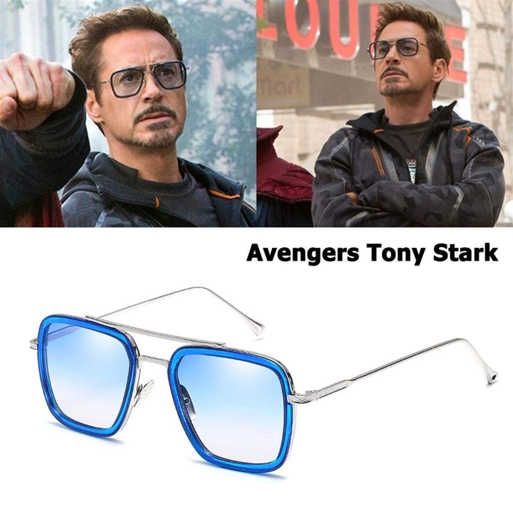 XIAOXINGXING Moda Avengers Tony Stark Estilo De Vuelo Gafas ...