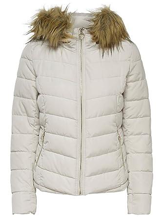 e504230b360e ONLY Damen Jacke Onlnew Ellan Quilted Fur Hood Jacket OTW  Amazon.de   Bekleidung
