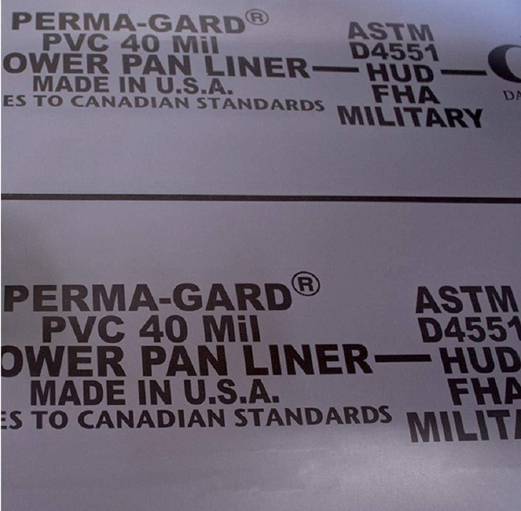 Shower Pan Liner 40 mil PVC Grey 6 x 14