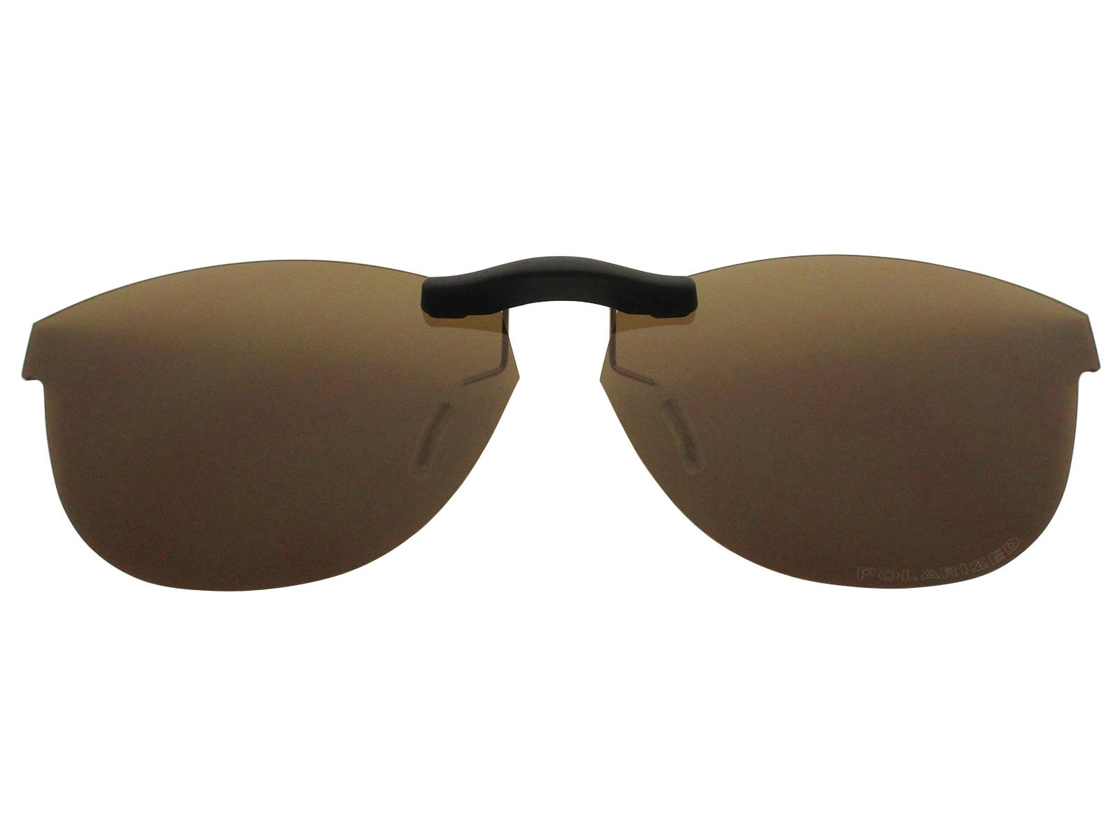 Custom Fit Polarized CLIP-ON Sunglasses For Oakley Stand Out (53) OX1112 53X16 Brown by COODY
