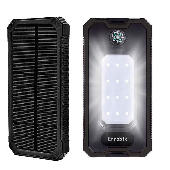 Amazon.com: Errbbic - Cargador solar para iPad, iPhone y ...