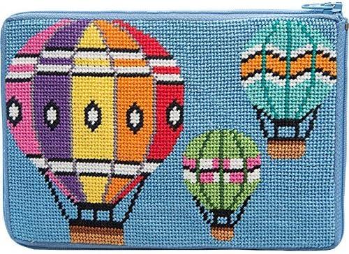 Stitch /& Zip Needlepoint Eyeglass Case Kit Balloons in Flight