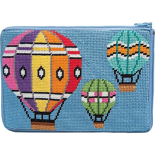 Stitch & Zip Needlepoint Purse Kit- Balloons in Flight Alice Peterson sz612