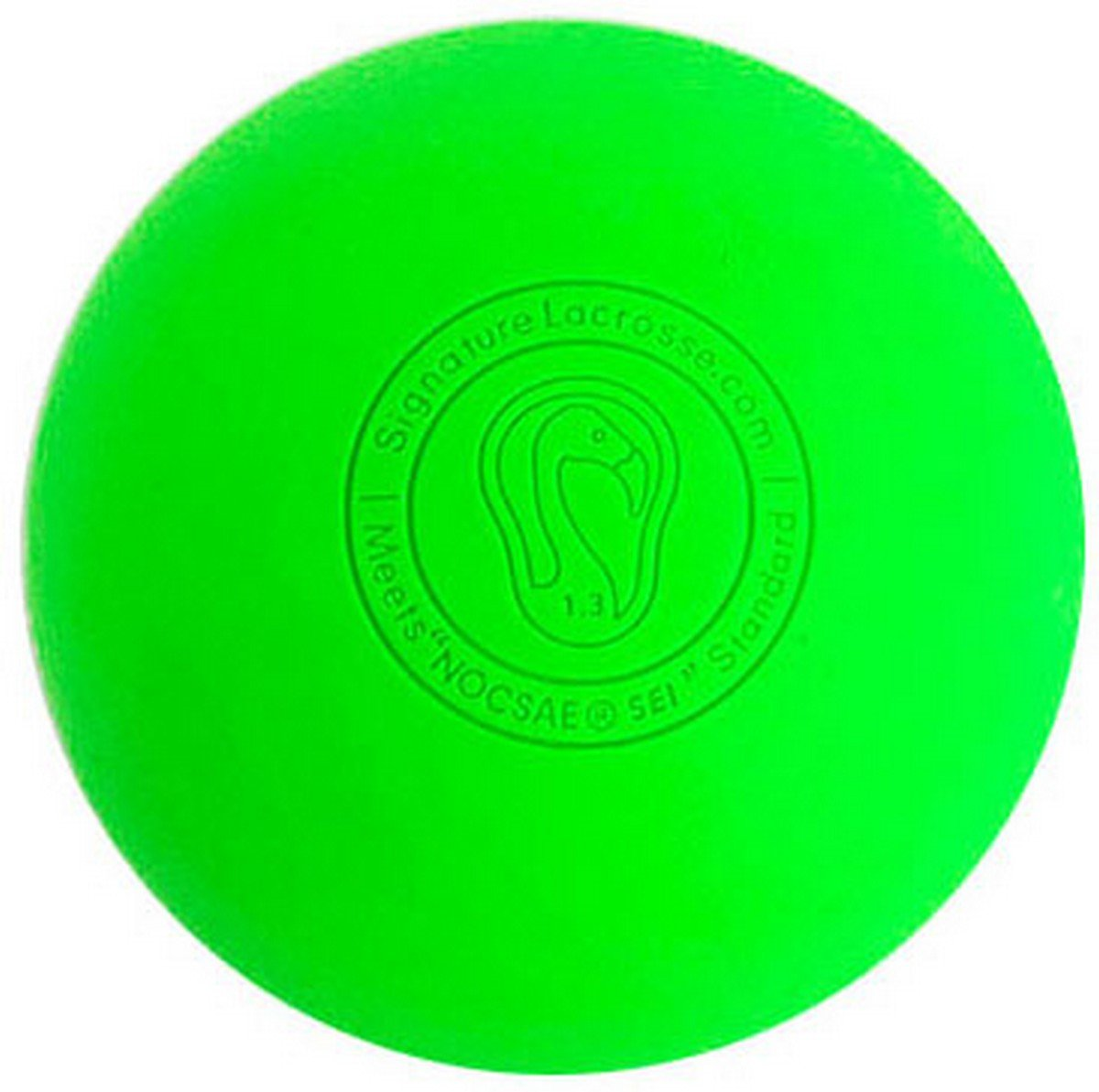 Signature Lacrosse Ball (12-Ball) Neon Green NOCSAE & SEI Approved Green-12P