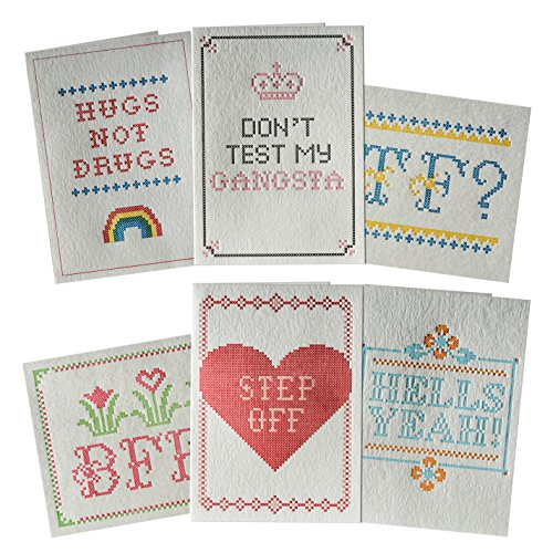 Elum Designs Letterpress in Stitches Cards Assortment 1 (GCSET09) (Elum Designs)