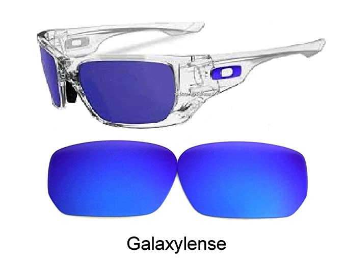 d3429e8ad9 Amazon.com  Galaxy Replacement Lenses For Oakley Style Switch Sunglasses  Blue Polarized  Clothing