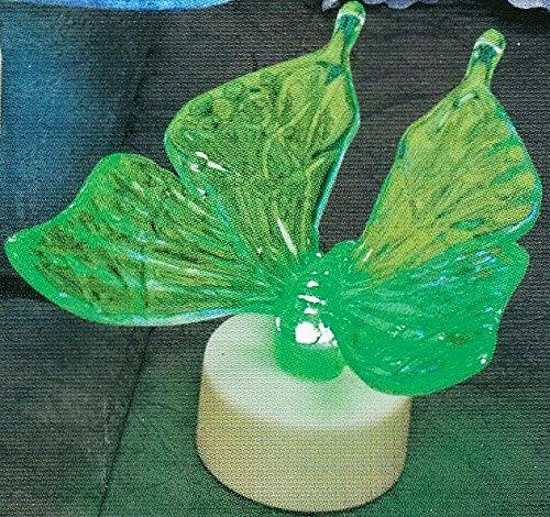 g LED Tea Light (Butterfly) (Northern Lights Crystal Flower)