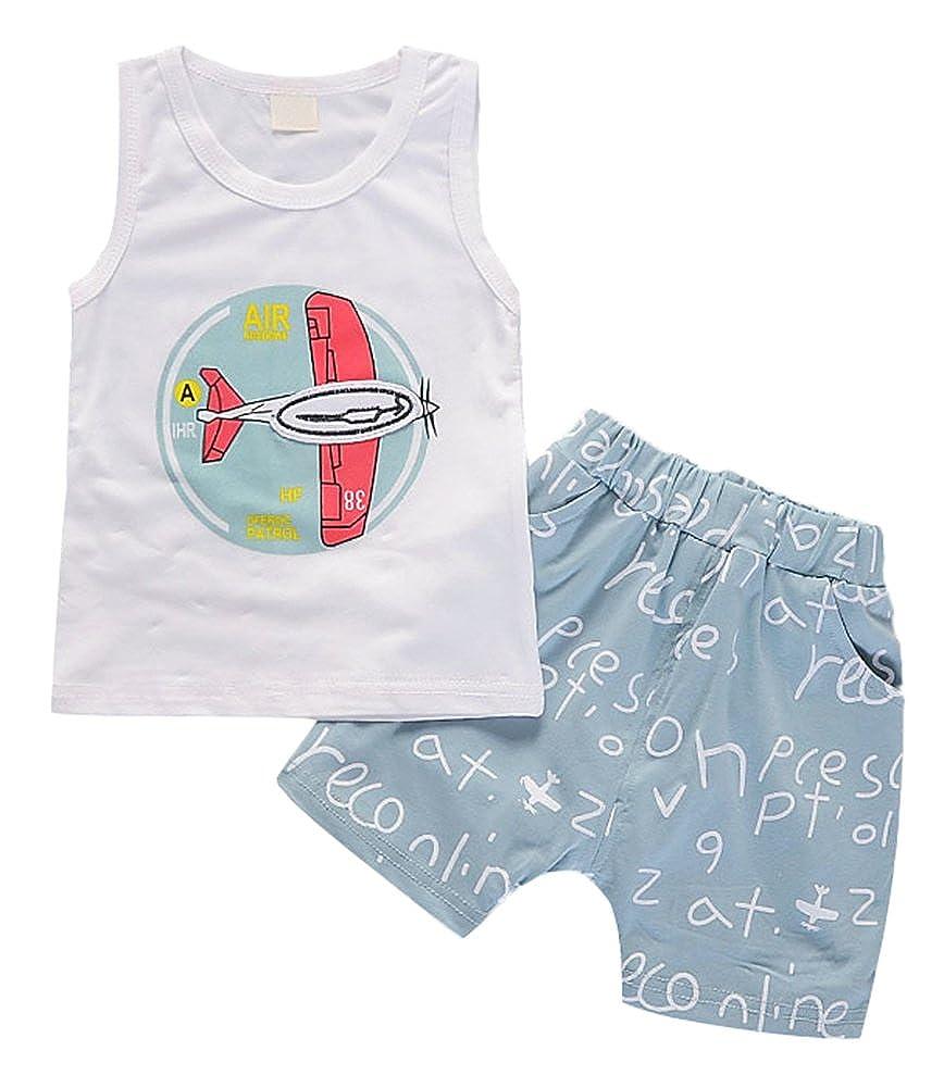 Little Kids Casual Simple Hip-hop Super Vest Summer 2ps Clothing Sets