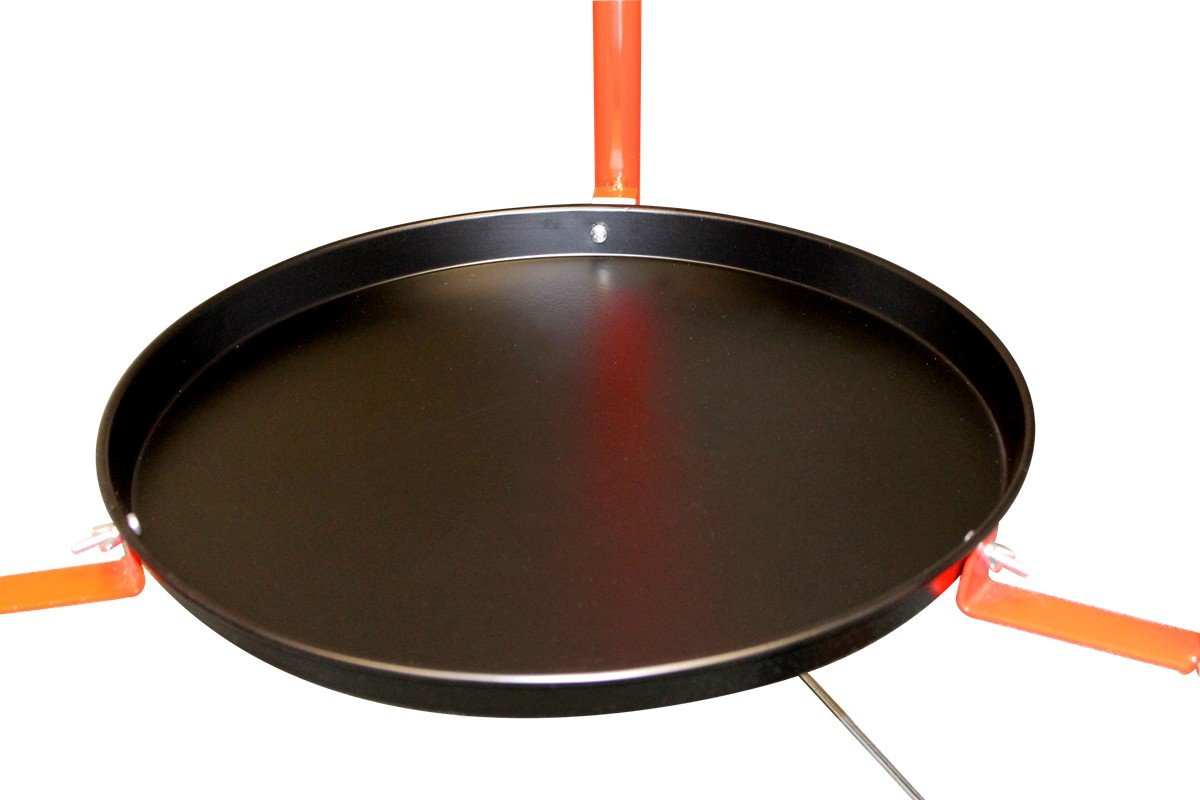 Includes Polished Steel Pan, 2 Ring Burner, Stand with tray and wheels, : Kitchen & Dining