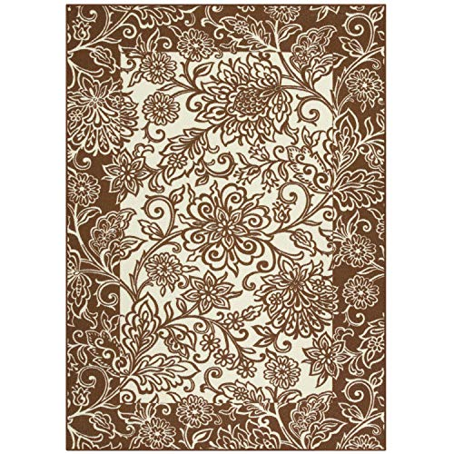 Maples Rugs Area Rugs - Adeline 5 x 7 Non Slip Large Rug [Made in USA] for Living Room, Bedroom, and Dining Room, Auburn