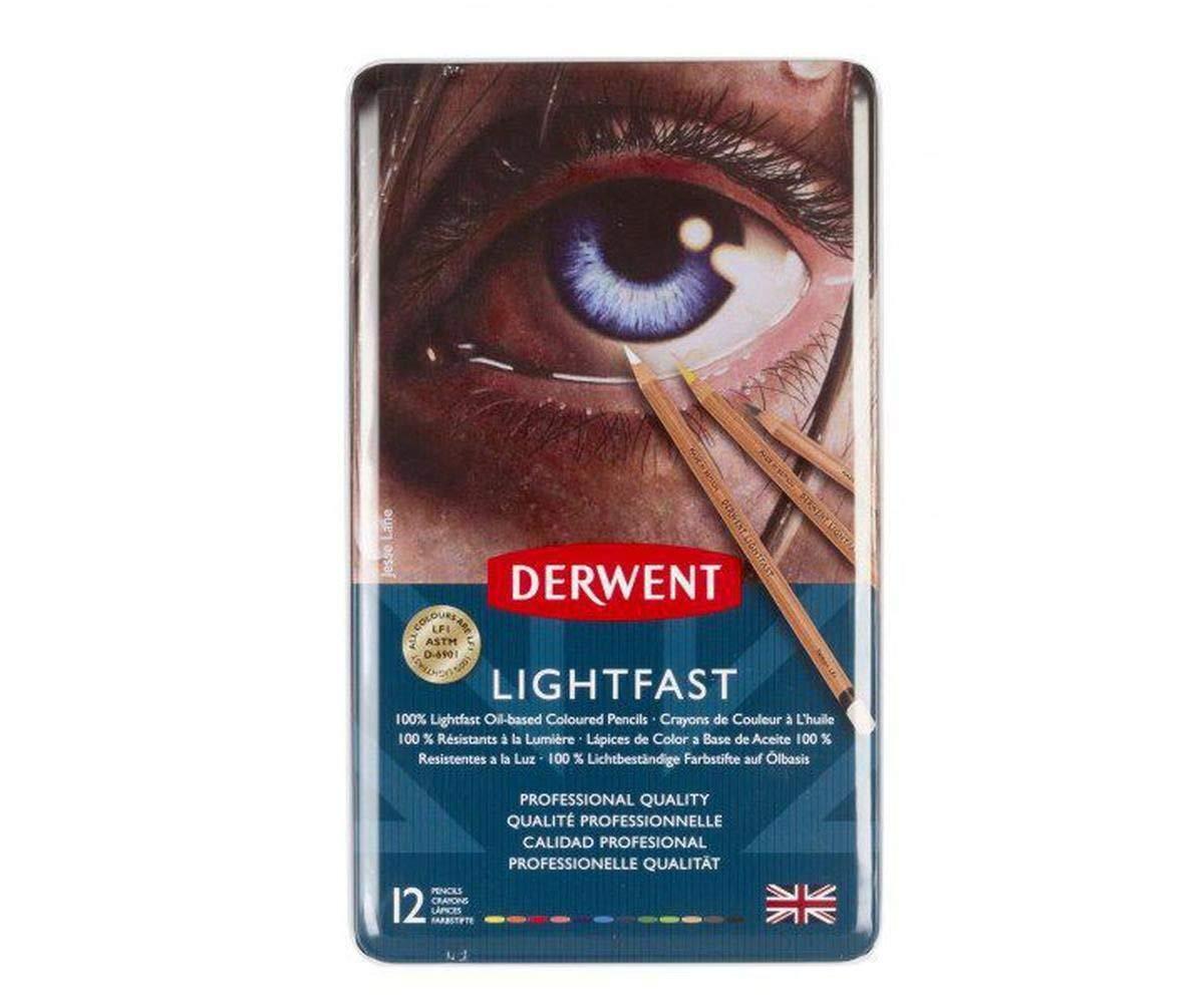 Crayons Artistic Lightfast Set (12ks), Derwent, Oil Lightproof, Art Supplies