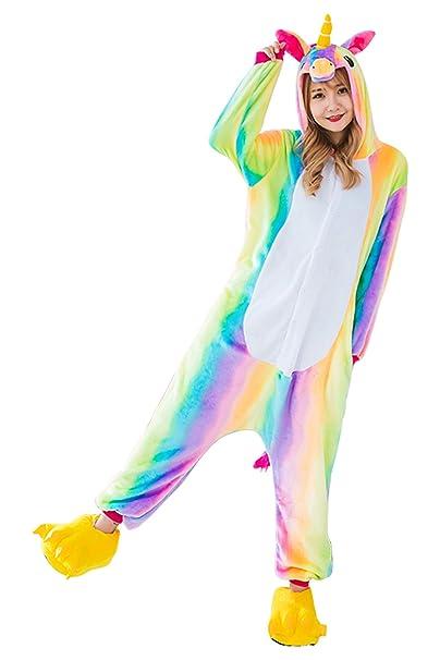 Kids Unicorn Onesie Kigurumi Pajamas - Unisex Cosplay Costume Onesies Animal  Sleepwear for Child (100 cee9e8d9b210