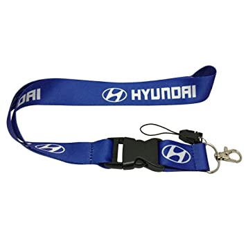 Coloryard 1pcs Blue Color USA Ship New Quick Release Neck Strap Lanyard Keychain Keyring Car Keys House Keys ID Badges Card For Hyundai Design