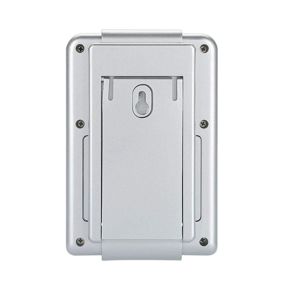 Pasamer Estaci/ón meteorol/ógica inal/ámbrica Digital Despertador Term/ómetro Higr/ómetro Temperatura Interior Exterior Plata