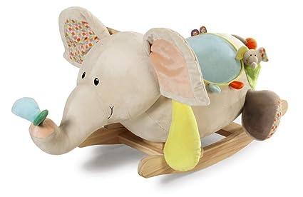 Nici 39721 Balancín elefante dundi, para niños a partir de 12 meses bajo la supervisión